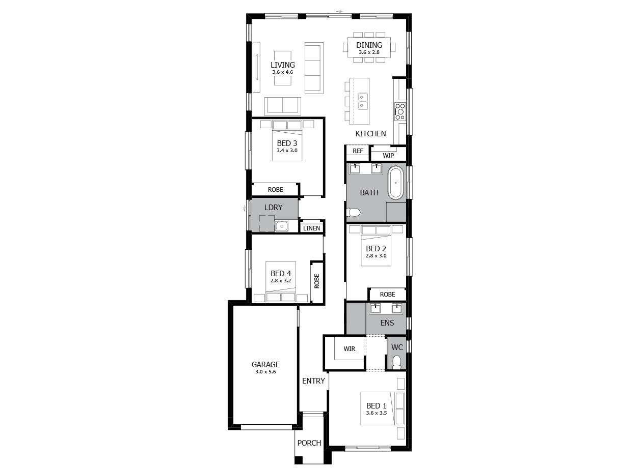 modern single floor house design